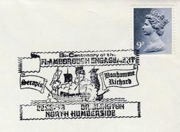 1978 Darlington FLAMBOROUGH BATTLE  Bi Centenary SAILING SHIP EVENT COVER GB Stamps Us Bicentennial - Us Independence
