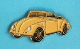 1 PIN'S //   ** WOLKSWAGEN ** COCCINELLE / COX / CABRIOLET ** . (Qualité Collectors Tirage - 500 © QUEBEC) - Volkswagen