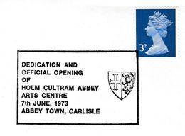 1973 Cover HOLM CULTRAM ABBEY Arts Centre EVENT Carlisle HERALDIC LION Pmk  Gb Stamps - Briefe U. Dokumente