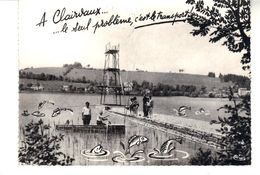 CPSM Clairvaux-les-Lacs (Jura) Un Coin Du Lac. A.Clairvaux...le Seul Problème, C'est Le Transport ! - Clairvaux Les Lacs