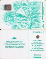 28/ French Polynesia; Traditional Dancing Woman, SC4, CN 36210 - French Polynesia