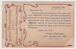 MAISON DELETTREZ Paris ADVERTISING Lotion, Savons PUBLICITÉ URUGUAY DEALER PC CPA 1902 - Publicité