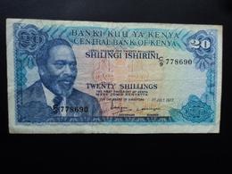 KENYA : 20 SHILINGS  1.7.1977   P 13d     TTB - Kenya