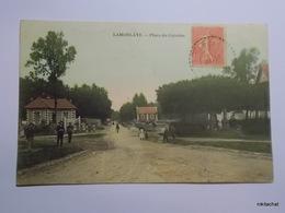 LAMORLAYE-Place Du Calvaire-Carte Couleur - Andere Gemeenten