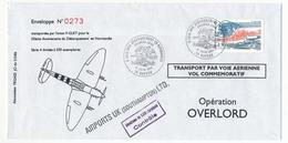 FRANCE - Enveloppe Transportée Par F-GLKT Pour Le 500eme Anniversaire Du Débarquement En Normandie - 1994 - Airmail