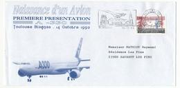 FRANCE - Enveloppe - Première Présentation A 330 - Toulouse Blagnac - 14 Octobre 1992 - Andere