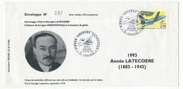 FRANCE - Enveloppe - Hommage à Pierre Latécoère, Créateur De La Ligne Aéropostale - Obl Temporaire TOULOUSE 1993 - Posta Aerea