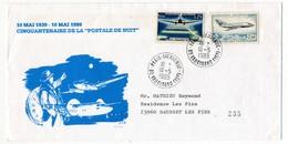 """FRANCE - Enveloppe - Cinquantenaire De La """"Postale De Nuit"""" 10 Mai 1989 - Paris Bienvenue - Andere"""
