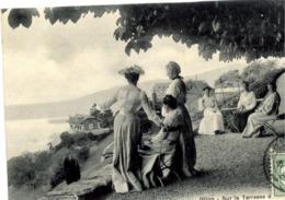 Suisse - GLION - Sur La Terrasse - Très Gros Plan Animé - Suisse