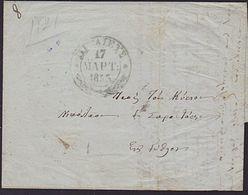 GREECE 1855 Prestamp Entire - ................6818 - ...-1861 Préphilatélie