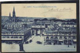 54163 . NANCY . VUE PANORAMIQUE PRISE DE L HOTEL DE VILLE  (recto/verso) - Nancy