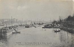 Paris - La Grande Crue De La Seine, Sauvetage De Barriques De Vin Au Quai St Bernard - Carte ND Phot. N° 47 Non Circulée - De Overstroming Van 1910
