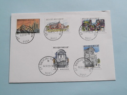 Afstempeling St. DENIJS-WESTREM 04-08-92 ( Doornik/Alden Biesen/Ronse/Brussel/Andenne ) ( Zie Foto's ) ! - Postmark Collection