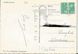 TIMBRO SU CARTOLINA: OLMA ST. GALLEN 7-17/10/1965  (130) - Svizzera