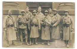 CARTE PHOTO 68 MULHOUSE MILITAIRES DE GARDE A LA POSTE 1918 PHOTO A. RISLER Porte Laterale - Mulhouse