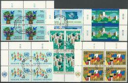 UNO WIEN 1979 Mi-Nr. 1/6 Viererblocks O Used - Aus Abo - Centre International De Vienne
