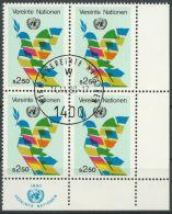 UNO WIEN 1979 Mi-Nr. 8 Viererblock O Used - Aus Abo - Centre International De Vienne