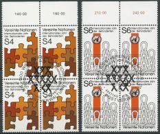 UNO WIEN 1981 Mi-Nr. 17/18 Viererblocks O Used - Aus Abo - Centre International De Vienne