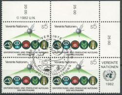 UNO WIEN 1982 Mi-Nr. 26 Viererblock O Used - Aus Abo - Centre International De Vienne