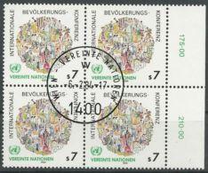 UNO WIEN 1984 Mi-Nr. 38 Viererblock O Used - Aus Abo - Centre International De Vienne