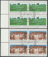 UNO WIEN 1984 Mi-Nr. 41/42 Viererblocks O Used - Aus Abo - Centre International De Vienne