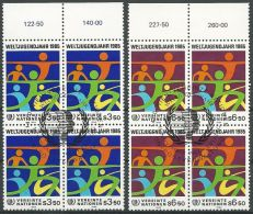UNO WIEN 1984 Mi-Nr. 45/46 Viererblocks O Used - Aus Abo - Centre International De Vienne