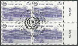 UNO WIEN 1985 Mi-Nr. 47 Viererblock O Used - Aus Abo - Centre International De Vienne