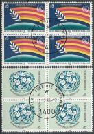UNO WIEN 1986 Mi-Nr. 62/63 Viererblocks O Used - Aus Abo - Centre International De Vienne