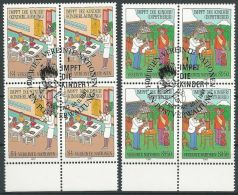 UNO WIEN 1987 Mi-Nr. 77/78 Viererblocks O Used - Aus Abo - Centre International De Vienne