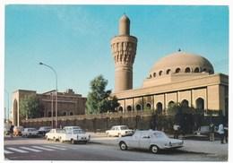 IRAQ  , Baghdad Al-Khalifs Mosque, Car,  Old Photo Postcard - Iraq