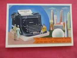 14 Ton Giant Underwood Master Typewriter NY Worlds Fair 1939 ---ref 2906 - Exhibitions