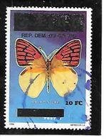 TIMBRE OBLITERE DU ZAIRE DE 1996 SURCHARGE N° MICHEL 1524 - République Démocratique Du Congo (1997 -...)