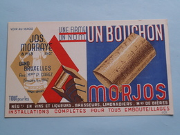 """Une Firme - Un Nom - UN BOUCHON """" MORJOS """" Jos MORRAYE & Fils GAND / Bruxelles ( Zie Foto's ) RECLAME / PUBLI ! - Capsules & Plaques De Muselet"""