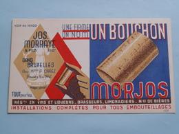 """Une Firme - Un Nom - UN BOUCHON """" MORJOS """" Jos MORRAYE & Fils GAND / Bruxelles ( Zie Foto's ) RECLAME / PUBLI ! - Publicité"""