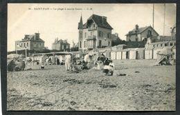 CPA - SAINT PAIR - La Plage à Marée Basse, Animé - Saint Pair Sur Mer