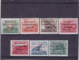 #E.8438 Hungary 1956 Full Short Set Overprint MNH Michel Localausgaben 5-9, 13, 17 CV 140 Euro: Sopron, With Guarantee ! - Hongarije
