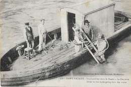 Scaphandrier Dans Le Bassin, La Descente - St Saint-Nazaire - Collection Delaveau-Joubier - Carte N° 230 Non Circulée - Other