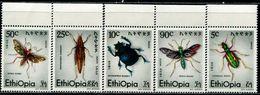 EG0589 Ethiopia 1977 Insect 5V MNH - Ethiopie
