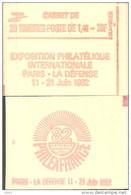 """CARNET 2154-C1a Sabine """"PHILEXFRANCE"""" Fermé Carnet De 20 Timbres Bas Prix état Parfait Soigné TRES RARE - Usage Courant"""