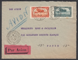 """PA N° 3 + PA N° 7 Sur Lettre Par Avion Oblit. CAD """" Casablanca Poste  12/12/29 Maroc """" Pour Paris - Marokko (1891-1956)"""