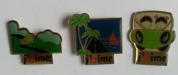 Pin's - Carburant - SCHELL - Lot De 3 Pin's - J'aime - - Fuels