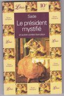 Sade - Le Président Mystifié Et Autres Contes - Erotique (Adultes)