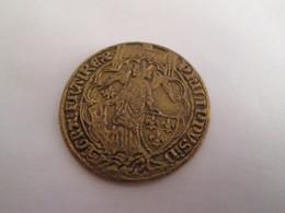 BP PIECE PUBLICITAIRE FIN 60's COPIES DE MONNAIES TRESOR DES ROIS DE FRANCE N°10 ANGE D'OR PHILIPPE VI 1341 - Fausses Monnaies