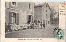 38 - GRENOBLE -- Cour De La Caserne Bizanet 140e De Ligne - Grenoble