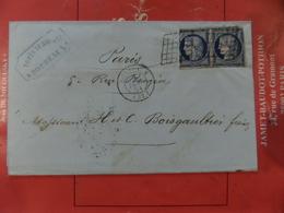 29.03.2018_LSC De Bordeaux Double Port Pour Paris Avec 2  N°4,possible Percé En Ligne?, - 1849-1850 Cérès