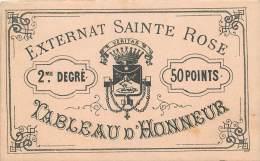 NANCY EXTERNAT SAINTE ROSE TABLEAU D'HONNEUR 2em ET 3em DEGRE ET BILLET D'HONNEUR - Ohne Zuordnung
