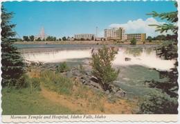 Mormon Temple And Hospital, Idaho Falls, Idaho, Postcard [21015] - Idaho Falls