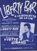 """5326 - Partition   Yvette Giraud    Liberty Bar """" A La Roulette De La Vie"""" - Vocals"""