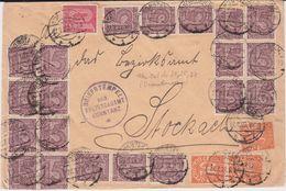 DR Dienst Infla Div Massenfrankatur Bf Konstanz 1922 R - Dienstpost