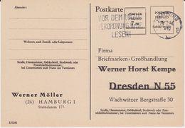 Brit Zone Behelfsausgabe Ganzsache P 794 Priv Zudruck Hamburg 1946 R - Zone Anglo-Américaine